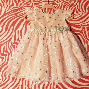 Other - Sweet baby girl pink star dress 3/6